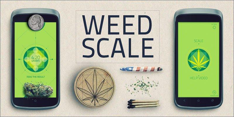 Waga na androida do ważenia marihuany