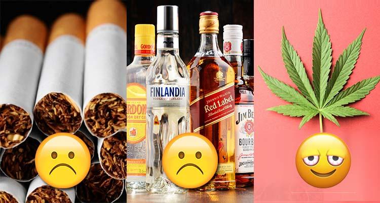 Alkohol i papierosy są najbardziej śmiertelnymi substancjami używanymi na świecie