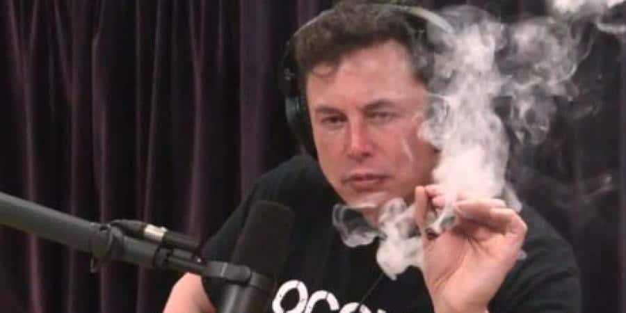 Elon Musk palił marihuanę z jointa podczas podcastu z Joe Roganem