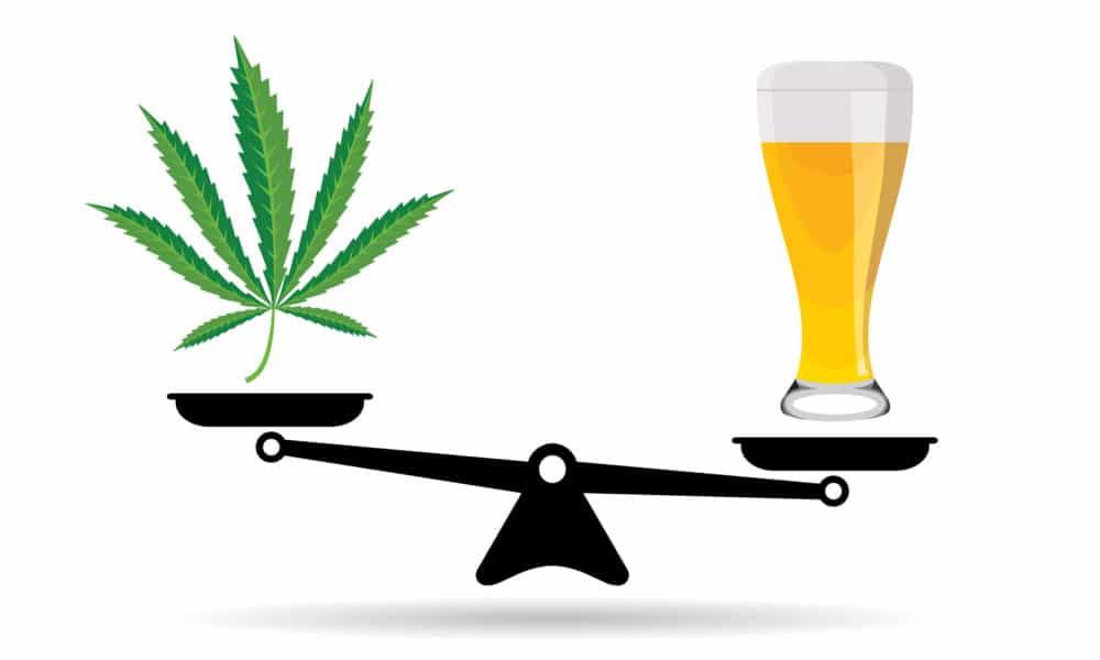 Mieszkańcy USA rezygnują z alkoholu i farmaceutyków na rzecz marihuany